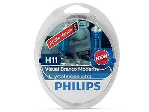 Lampada Philips H11 Cristal Vision Ultra 4300K 55W Original