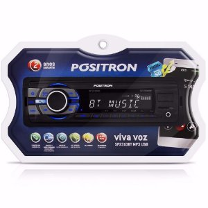 Som Automotivo Positron SP2310BT - Bluetooth MP3 com Entrada USB SD e Auxiliar