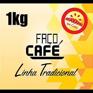 Faço Café - Linha tradicional - Café em Grão 1kg