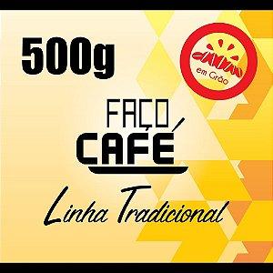 Faço Café - Linha Tradicional - Café em Grão 500g