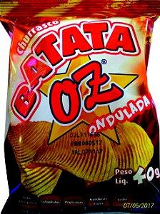 BATATA FRITA OZ CHURRASCO 40G CX COM 24 UNIDADES
