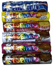 BISCOITO RECHEADO FOFINHO CHOCOLATE CAIXA COM 30 UNIDADES
