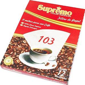 FILTRO PARA CAFE 103 SUPREMO CAIXA COM 40 UNIDADES