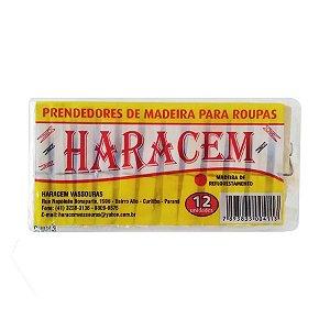 PRENDEDOR DE MADEIRA PACOTE COM 12 UNIDADES