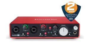 Interface de Áudio Focusrite Scarlett 2i4 USB 2nd Geração