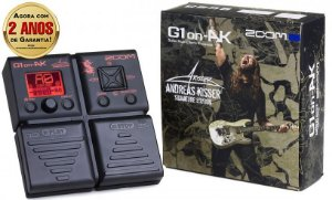 Pedaleira Zoom G1on-AK Andreas Kisser Signature Multi-Effects