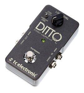 Pedal de Efeitos TC Electronic Ditto Stereo Looper para Guitarra