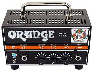 Cabeçote Valvulado Orange Micro Dark Head 20W Híbrido para Guitarra