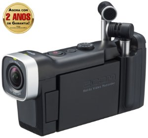 Gravador Digital Portátil Zoom Q4n Handy Vídeo Recorder