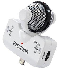 Microfone Zoom iQ5 Stereo P/ Iphone