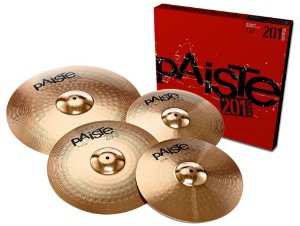 Kit de Pratos Paiste 201 Bronze Universal Set +10'' Splash para Bateria