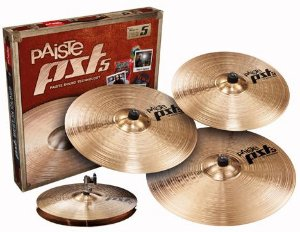 Kit de Pratos Paiste PST 5N Universal Set +18'' Medium Crash Free para Bateria