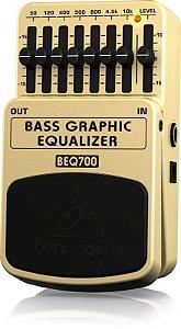 Pedal de Efeitos Behringer BEQ700 Bass Graphic Equalizer para Contrabaixo