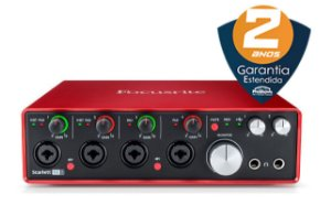 Interface de Áudio Focusrite Scarlett 18i8 USB 2nd Geração