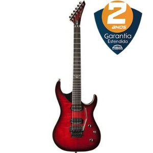 Guitarra Washburn Parallaxe PXS10 DLX Floyd Rose Flame Wine Burst com Bag