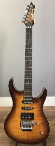 Guitarra Washburn RX25 Tobacco Sunburst com Floyd Rose
