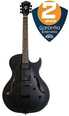 Guitarra Acústica Washburn HB17CBK Cutaway Black Matte com Case