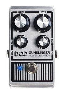 Pedal de Efeitos DOD Gunslinger Mosfet Distortion para Guitarra