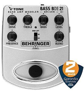 Pedal de Efeitos Behringer V-Tone Bass Driver DI BDI21 para Contrabaixo