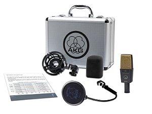 Microfone AKG C414 XLII Condensador Profissional