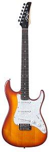 Guitarra Stratocaster Seizi Vision Escudo Branco com Capa