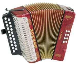 Acordeon Hohner Erica 1600/2 GC HT Red com Capa
