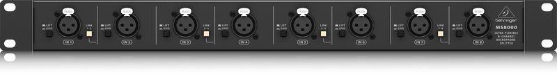 Splitter de Microfone Behringer Ultralink MS8000 Ultra Flexible 8 Canais