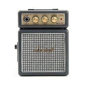 Micro Caixa Amplificada Marshall MS-2C 1W Vintage Grey