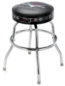 Banco Barstool Fender Pinstripe Custom Shop 24""