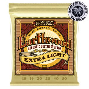 Encordoamento Ernie Ball Earthwood 80/20 .010 / .050 Extra Light 2006 para Violão