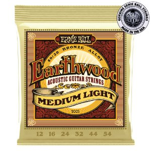 Encordoamento Ernie Ball Earthwood 80/20 .012 /.054  Medium Light 2003 para Violão