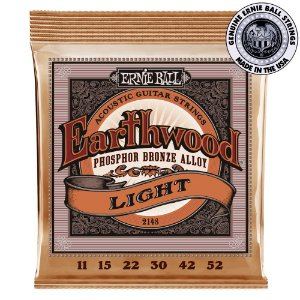 Encordoamento Ernie Ball Earthwood Phosphor Bronze .011 /.052 Light 2148 para Violão
