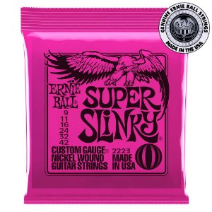 Encordoamento Ernie Ball Super Slinky .009 para Guitarra