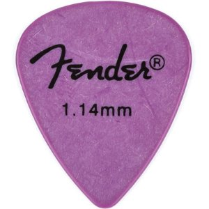 Kit Palhetas Fender Rock-On! Tourning Heavy/Extra Heavy Lilás 12pçs