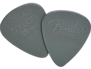 Kit Palhetas Fender Nylon Picks Medium Heavy Gray 12pçs