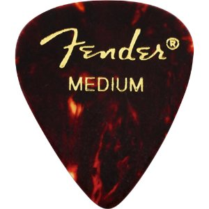 Kit Palhetas Fender Classic Celluloid Picks 351 Shell Medium 12pçs