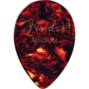 Kit Palhetas Fender Classic Celluloid Picks 358 Shell Medium 12pçs