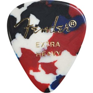 Kit Palhetas Fender Classic Celluloid Picks 351 Confetti Extra Heavy 12pçs
