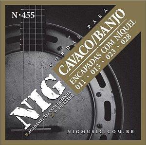 Encordoamento Nig N-455 .011''/.28'' para Cavaco/Banjo