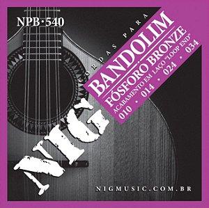Encordoamento Nig Série NPB540 .010/.34 para Bandolim