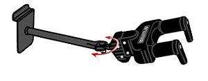 Suporte Hércules Slatwall GSP40SB haste longa para Instrumentos de Corda