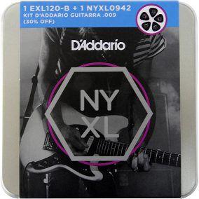 Kit Encordoamento D'Addario EXL120-B e NYXL 0942 Guitarra/Violão