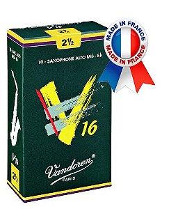Palheta Vandoren V16 Nº 2,5 para Sax Alto
