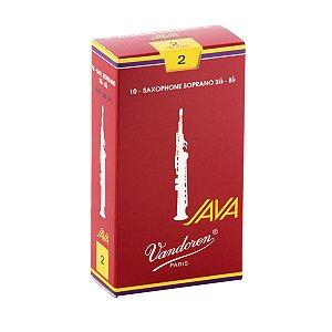Palheta Vandoren Java Red Cut Nº 2 para Sax Soprano