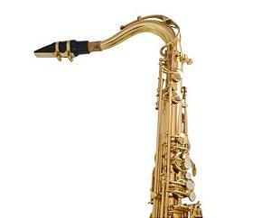 Saxofone Tenor Shelter SFT6435L Bb Laqueado Dourado com Case