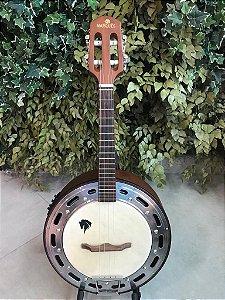 Banjo Eletro-Acústico Marquês Baj-87 4 Cordas Castanho