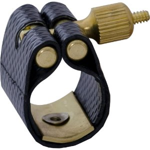 Abraçadeira Free Sax BAMA-1 de Couro Sintético para Sax Alto com Ressonador de Metal