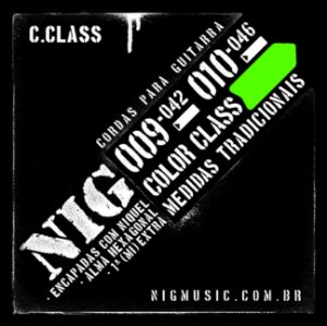 Encordoamento NIG Color Class 010/046 Verde para Guitarra