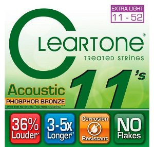Encordoamento Cleartone 7411 Acoustic .011/.52 Violão