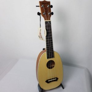 Ukulele Akahai KPS-21 Pineapple Soprano com Cordas Aquila e Bag
